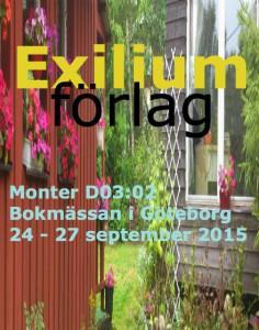 Exilium- förlag bokmässan 2015
